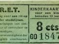RET 1954 kinderkaartje stadslijn 8 cts (111-2) -a