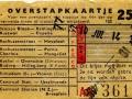 RET 1954 overstapkaartje buitenlijn 25 cts (122) -a