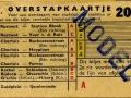 RET 1954 overstapkaartje stadslijn-buitenlijn 20 cts (121-2) -a