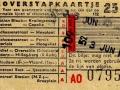 RET 1954 overstapkaartje stadslijn-buitenlijn 25 cts (122) -a