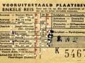 RET 1954 vooruitbetaalde enkele reis stads of buitenlijn 1,30 (106g) -a