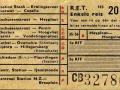 RET 1957 enkele reis stads of buitenlijnen 20 cts (103) -a