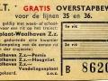 RET 1957 gratis overstapbewijs Heyplaat-Waalheven (125) -a