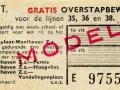 RET 1957 gratis overstapbewijs weekkaart Heyplaat-Waalhaven (128C) -a