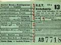 RET 1957 kinderkaartje stads of buitenlijnen 13 cts (113g-2) -a