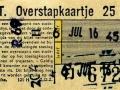 RET 1957 overstapkaartje 25 cts (121H) -a