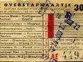 RET 1957 overstapkaartje buitenlijn 30 cts (122c) -a