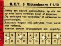 RET 1958 5 rittenkaart 1,10 (52F) -a