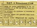 RET 1958 6-rittenkaart 1,00 (51B) -a