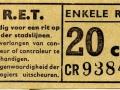 RET 1958 enkele reis stadslijn 20 cts (101b) -a