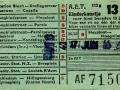 RET 1958 kinderkaartje stads of buitenlijnen 13 cts (113g) -a