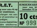 RET 1958 kinderkaartje stadslijn 10 cts (111g) -a