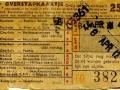 RET 1958 overstapkaartje buitenlijn 25 cts (121b) -a