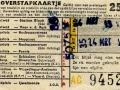 RET 1958 overstapkaartje stadslijn-buitenlijn 25 cts (121b) -a