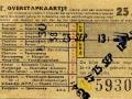 RET 1958 overstapkaartje stadslijn-buitenlijn 25 cts (121d) -a