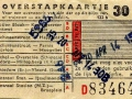 RET 1958 overstapkaartje stadslijn-buitenlijn 30 cts (122b) -a