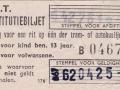 RET 1958 restitutiebiljet voor een rit (176) -a