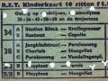 RET 1961 10 ritten kinderkaart achterzijde 1,10 (255C) -a