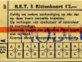 RET 1961 5-rittenkaart 2,- (257) -a