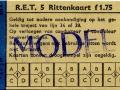 RET 1961 5-rittenkaart bijzondere buslijnen 1,75 (254A) -a