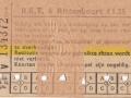 RET 1961 6-rittenkaart 1,25 (251A) -a