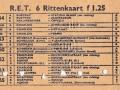 RET 1961 6 rittenkaart 1,25 achterzijde -a