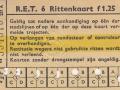 RET 1961 6-rittenkaart 1,25 voorzijde (251A) -a