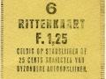 RET 1961 6-rittenkaart 25 cts trajecten 1,25 -a