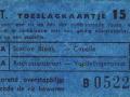 RET 1961 toeslagkaartje stads-buitenlijn 15 cts (127b) -a
