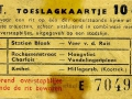 RET 1961 toeslagkaartje stadslijn-buitenlijn 10 cts (126b) -a