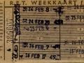 RET 1961 weekkaart 2,30 (275B) -a