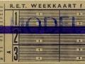 RET 1961 weekkaart bijzondere lijnen 4,30 (270) -a