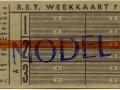 RET 1961 weekkaart met overstap 3,90 (269C) -a