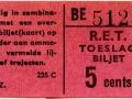 RET 1962 toeslagbiljet 5 cts (225C) -a