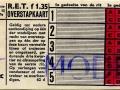 RET 1963 5-ritten overstapkaart 1,35 (62d) -a