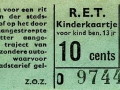 RET 1963 kinderkaartje 10 cts (101H) -a