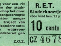 RET 1963 kinderkaartje 10 cts (111H) -a