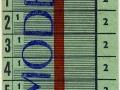 RET 1963 schoolkaart 2 ritten per dag 2,- -a