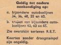 RET 1964 5 ritten trajectkaart 2,00 achterzijde (54) -a