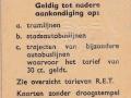 RET 1964 6 rittenkaart 1,50 achterzijde (51) -a