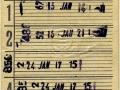RET 1964 overstapkaart 5-ritten 1,50 -a