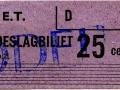 RET 1964 toeslagbiljet 25 cents (319) -a