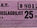 RET 1964 toeslagkaartje 25 cents (19) -a