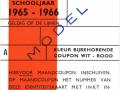 RET 1965 Identiteitskaart scholieren kleur wit-rood -a