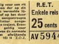 RET 1965 enkele reis 25 cts (103H) -a