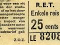 RET 1965 enkele reis 25 cts (201A) -a