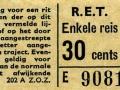 RET 1965 enkele reis 30 cts (202A) -a