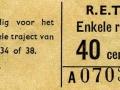 RET 1965 enkele reis 40 cts (204A) -a