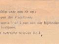 RET 1965 enkele reis stadslijn of 1 sectie 50 cents achterzijde (103) -a