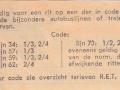 RET 1965 enkele reis stadslijn of 1 sectie 55 cents achterzijde (152A) -a